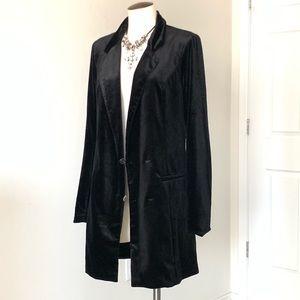 NWT TOBI Velvet Long Blazer/ Jacket Size L